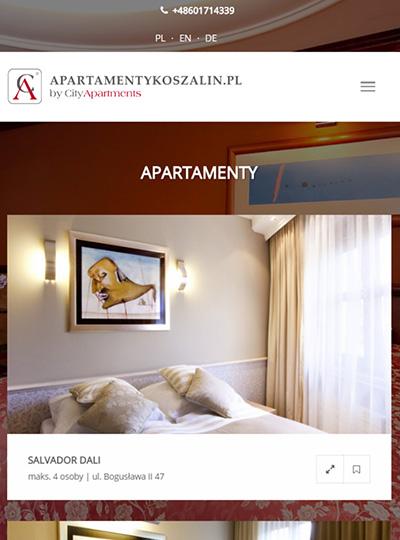 strony internetowe apartamenty koszalin