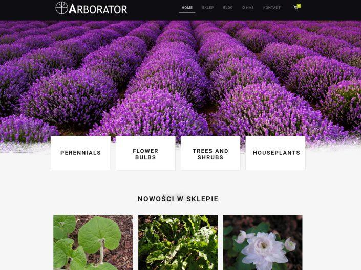 strona internetowa i sklep arborator