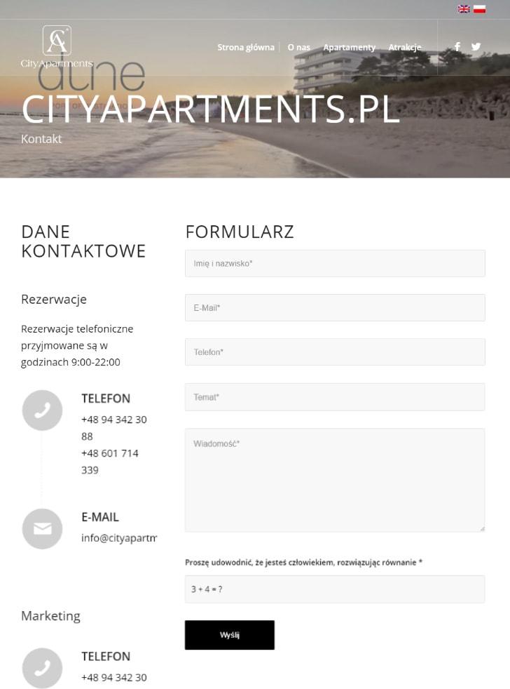 strony internetowe projekt i wykonanie