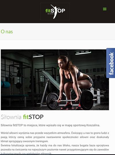 nowa responsywna strona internetowa dla siłowni koszalin