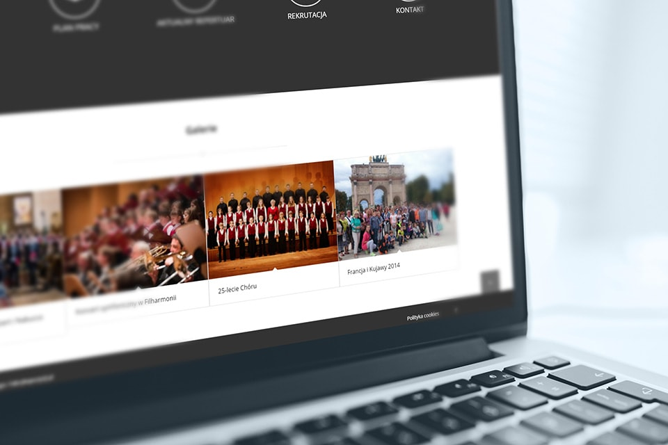 strona internetowa dla chóru cantatedeo koszalin