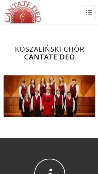 strona internetowa dla chóru koszalin