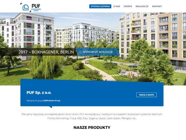 projekt strony internetowej www puf windows
