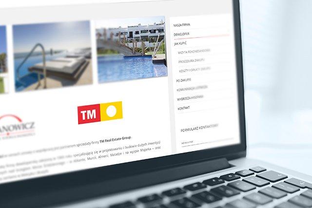 projekt i budowa strony internetowej dla urbanowicz nieruchomości koszalin